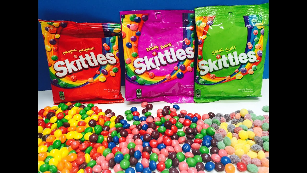 skittles candy sour and berry bag opening youtube