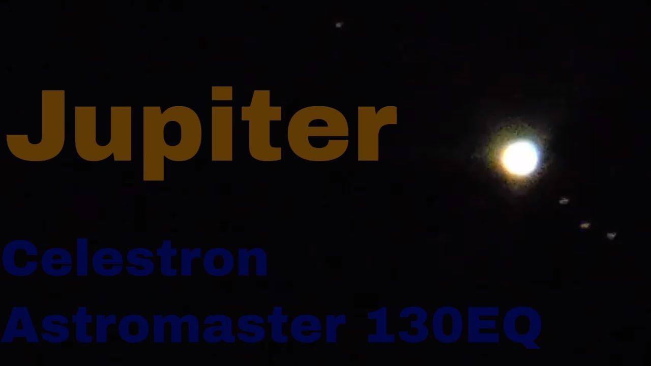 Jupiter through my celestron astromaster eq telescope youtube
