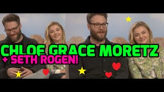 Seth Rogen and Chloe Grace Moretz say Zac Efron had to get his top off in Bad Neighbours 2!