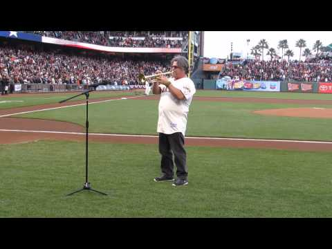 Mic Gillette National Anthem at SF Giants Game 4/9/14
