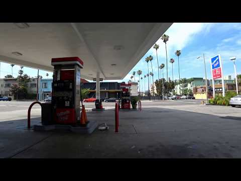 California Fuel Gas Station in Los Angeles, California