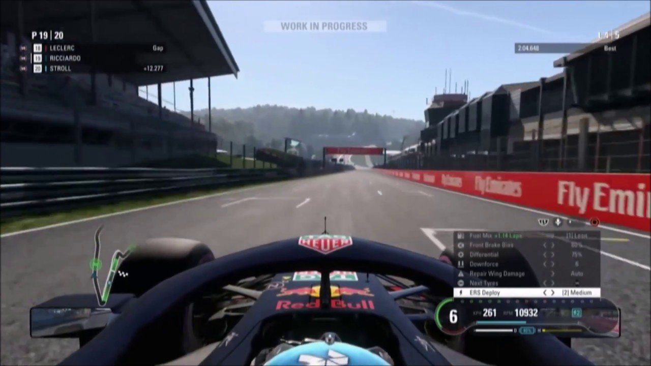f1 2018 red bull spa gameplay e3 first look at ers in. Black Bedroom Furniture Sets. Home Design Ideas