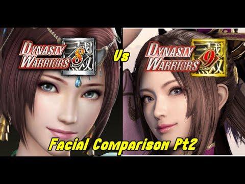 Dynasty warriors 9 vs dynasty warriors 8 facial comparison pt2 diao chan liu bei cao cao and - Seven knights diaochan ...