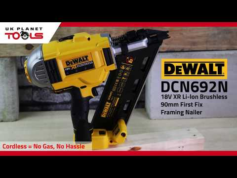Dewalt DCN692N 18V XR Li-ion Brushless 90mm First Fix Framing Nailer | UK Planet Tools