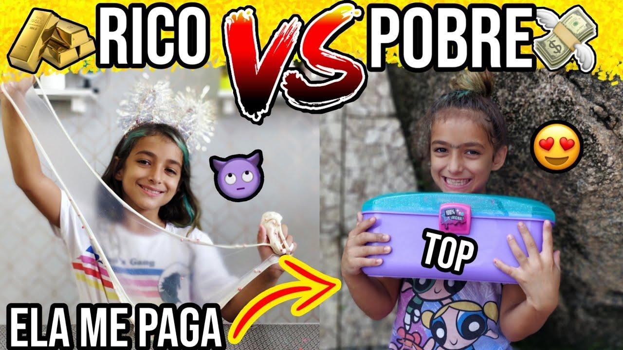 RICO VS POBRE FAZENDO AMOEBA SLIME #11