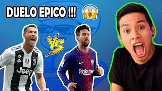 DUELO de CRACKS! RONALDO vs MESSI (AKINATOR) (DjMariio vs Robert PG)