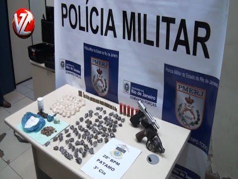 PM apreende drogas e armas no bairro Cruzeiro em Pinheiral