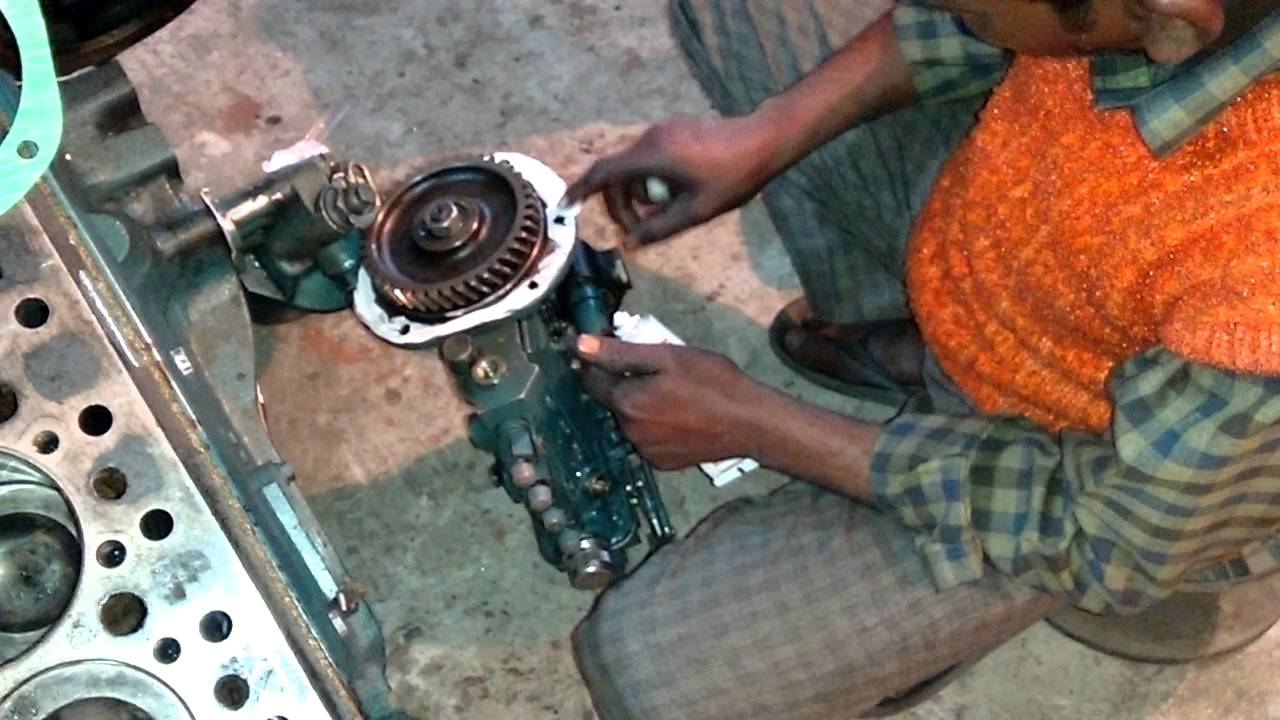How to fit diesel pump on Tata 709 engine