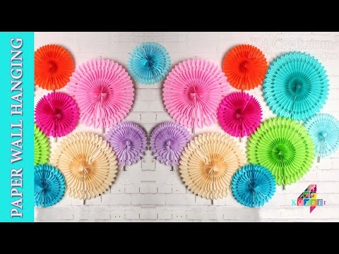 DIY: Paper ceiling / wall hanging Designer Flowers -Christmas Party / Home Decoration #NewYear