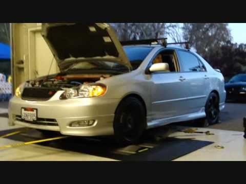 2007 Toyota Corolla S  on the dyno at AED  YouTube