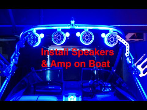 How to Install Wakeboard Tower Speakers  Lights on A24 Axis - YouTube