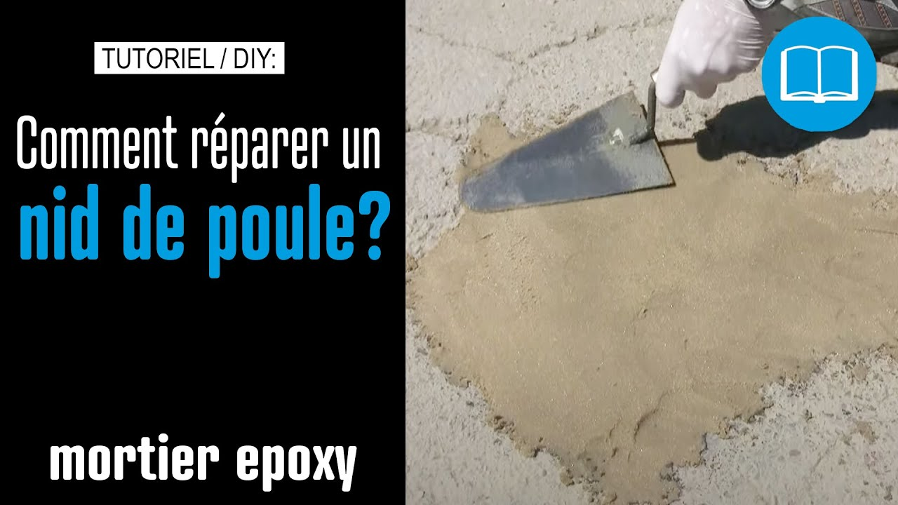 Mortier epoxy ragreage reparation marche escalier beton bouchage trous youtube - Faire une marche en beton ...