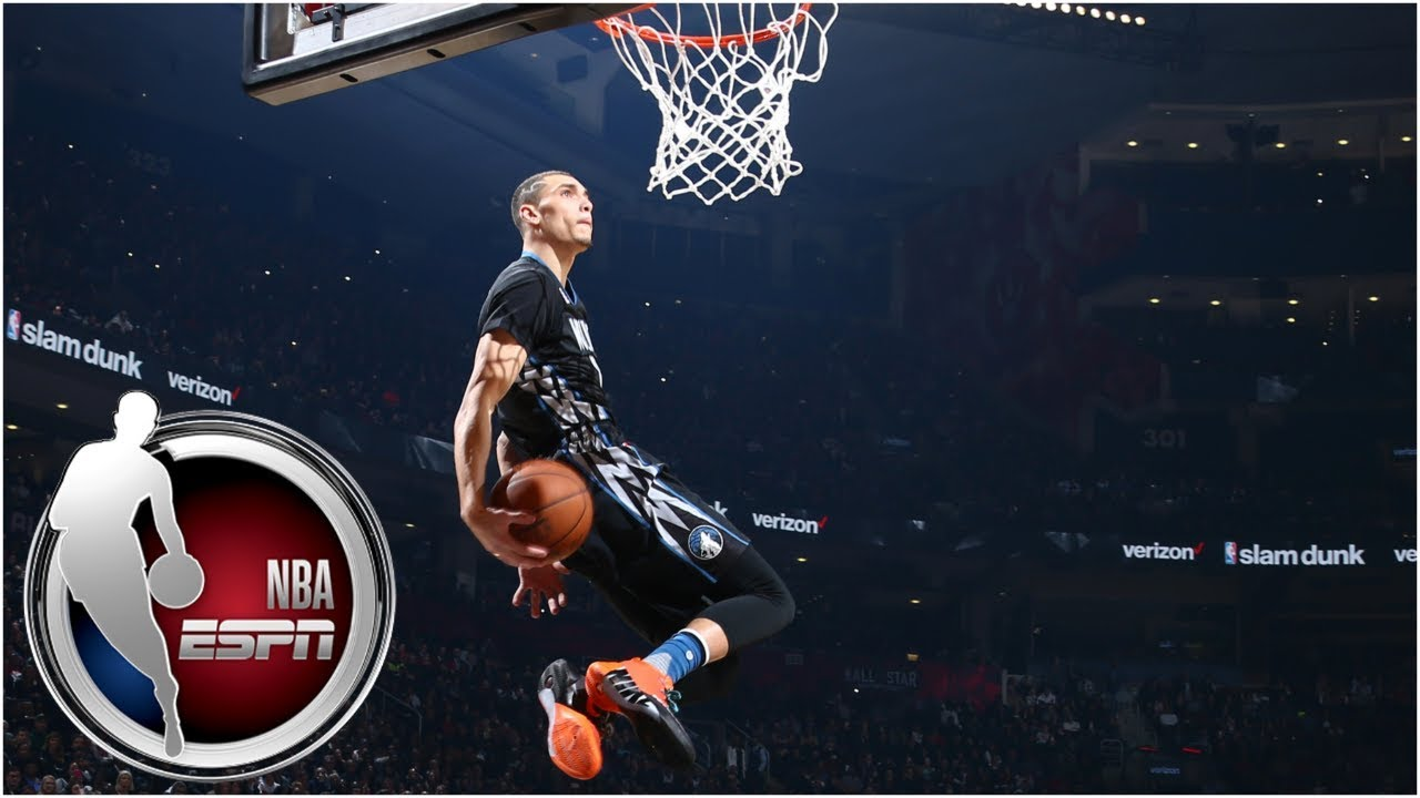 Zach LaVine beats Aaron Gordon in epic 2016 NBA Slam Dunk Contest | ESPN Archives
