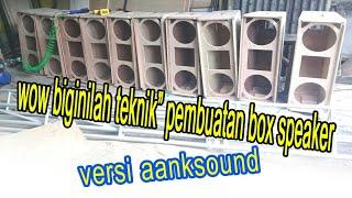 Teknik pembuatan box speaker line array