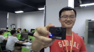 ThiEYE Office and Factory Tour: ThiEYE T5 4K@30fps Action Camera on Ambarella A12, 360camera