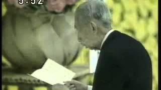 昭和63年(1988)8月15日 全国戦没者追悼式 日本武道館.