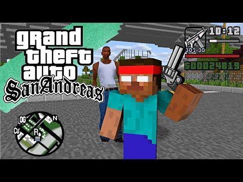 Monster School : GTA SAN ANDREAS PART 2 - Minecraft Animation