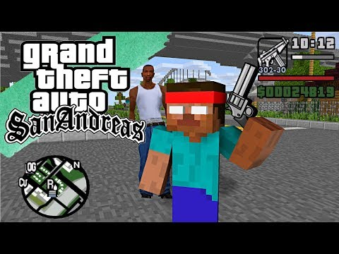Monster School : GTA SAN ANDREAS PART 2 - Minecraft Animation