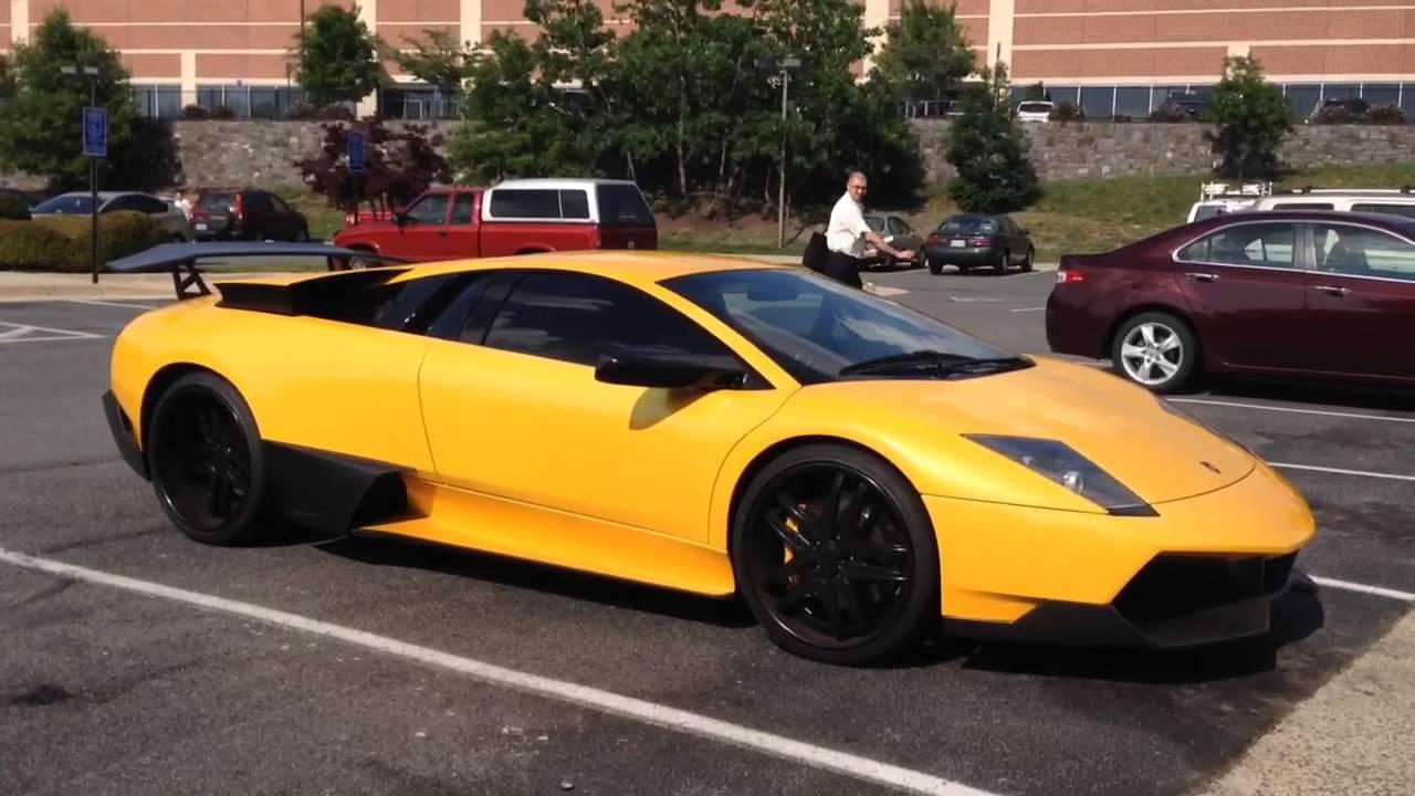 Yellow Lamborghini Murcielago Sv Youtube