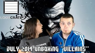 "Loot Crate: July 2014 ""Villains"" Unboxing - DC, Marvel, Starwars, & Bowser!"
