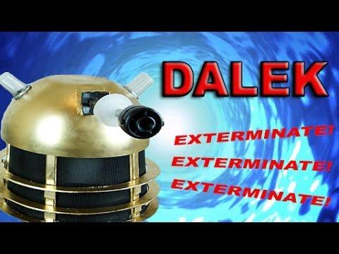 How To Make A Dalek Helmet Youtube