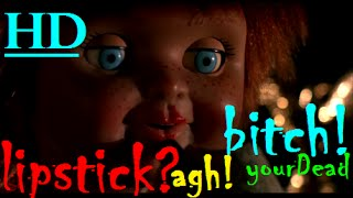 "LIPSTICK ON CHUCKY?  THIS MEANS WAR!! ★""CHILD'S PLAY 3""💀 SCENES 1080pHD✔"
