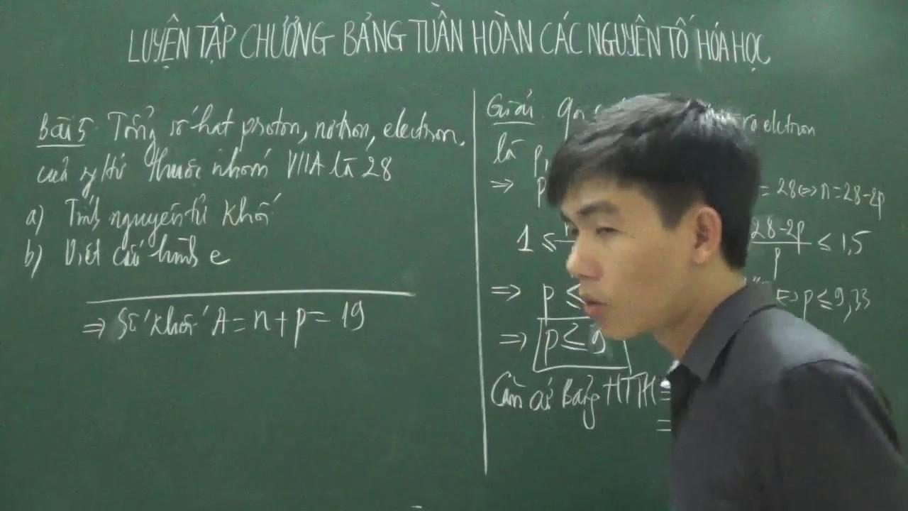 [Hóa 10] – Luyện tập bảng HTTH: Tính nguyên tử khối và viết cấu hình electron