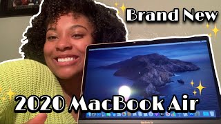 UNBOXING 📦 MY BRAND NEW 2020 MACBOOK AIR 💻 (GOLD 13-inch)
