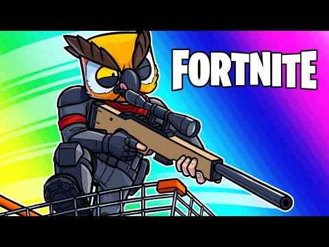 Fortnite Funny Moments - Shopping Carts VS Snipers Custom Game!
