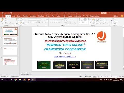 Repeat Review Codeigniter Crud Generator hasil modifikasi  +