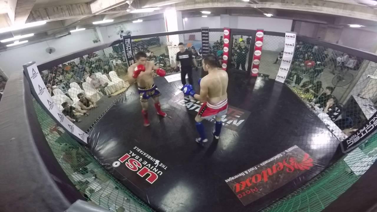 ub20 amateur kickboxing : francis lim jing hong vs chan kim