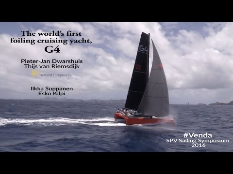The world's first foiling cruising yacht, the G4 by Holland Composites