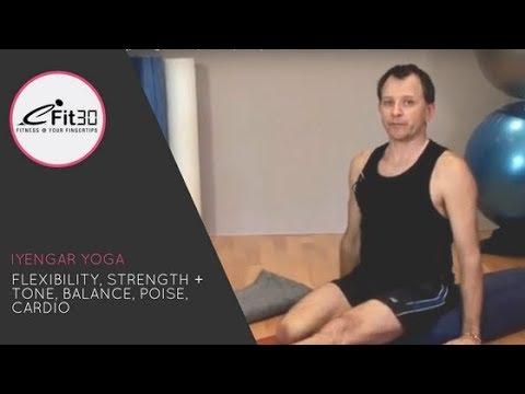 Iyengar Yoga with David McLaughlan full 30 minute workout, eFit30