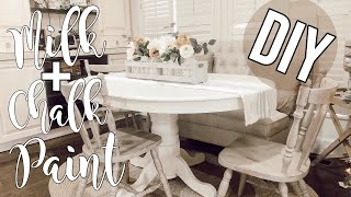 Milk Paint & Chalk Paint tutorial | Thrifted Dining Room