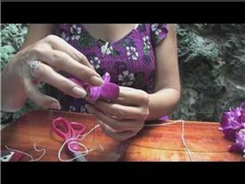 making hawaiian leis how to make a flower lei youtube