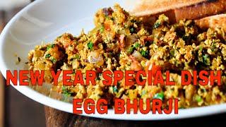Indian scrambled eggs recipe/Spicy Masala Egg Bhurji ( NEW YEAR SPECIAL RECIPE 2018)