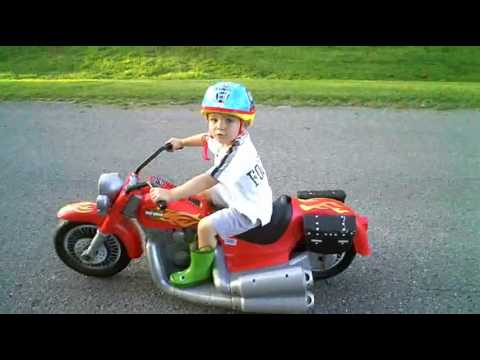 Custom Ride Ons - Red Harley-Davidson Motorcycle - 12V To 18V - By Hozian - Modified Power Wheels