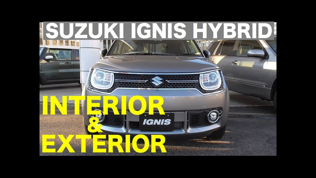 new suzuki ignis hybrid interior exterior youtube. Black Bedroom Furniture Sets. Home Design Ideas