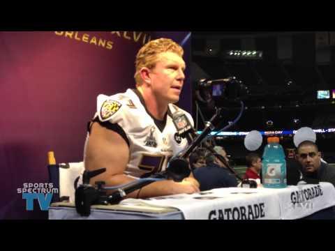 Matt Birk - Super Bowl Media XLVII Day