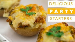 2 Delicious & Quick Party Starters | Vegetarian Indian Appetisers or Snacks