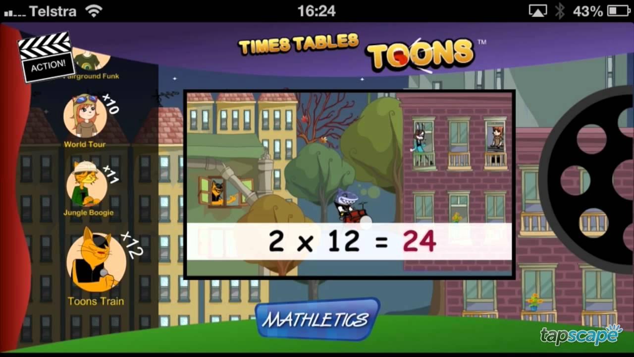 mathletics times tables toons