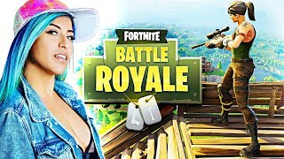 GIRLFRIEND'S 1ST TIME PLAYING (Fortnite Battle Royale Gameplay)