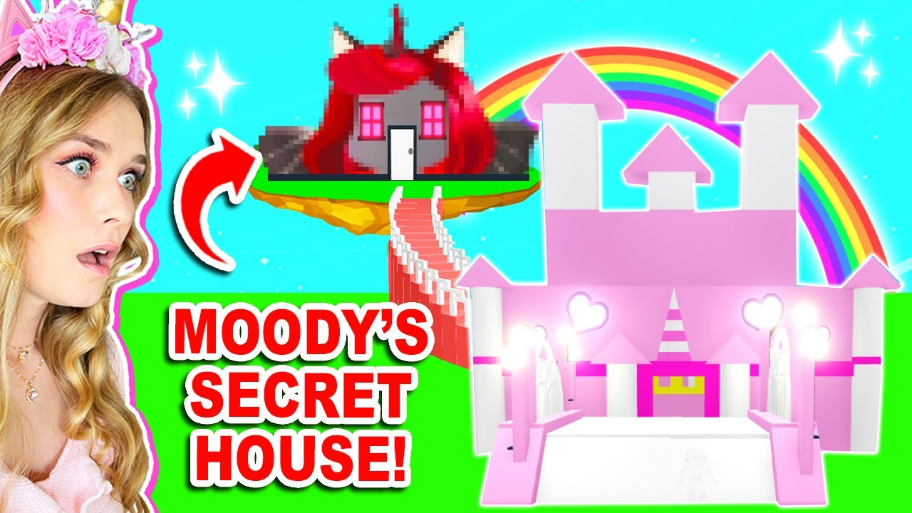 MOODY *SECRETLY* Built A HOUSE On TOP Of Mine In Adopt Me! (Roblox)