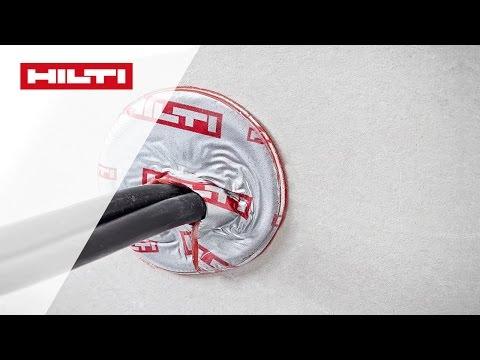 DEMO Der Hilti CFS-D 25 Brandschutz Kabel Disk