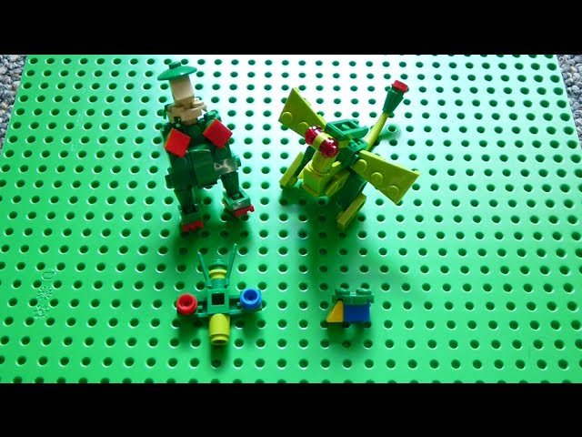 Lego Pokemon Instructions Part 17 Breloom Flygon Roselia And