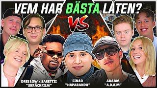 VEM HAR BÄSTA LÅTEN? (Einar, Dree Low, Adaam) | Swedish Rap Reaction | #40