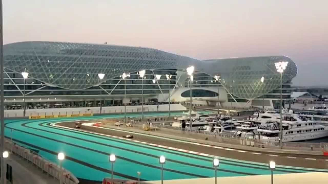 Abu Dhabi Grand Prix View From Marina Support Grandstand Youtube