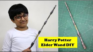 I made Harry Potter Elder Magic Wand | How to make Harry Potter Magic Stick | Easy DIY Craft Idea
