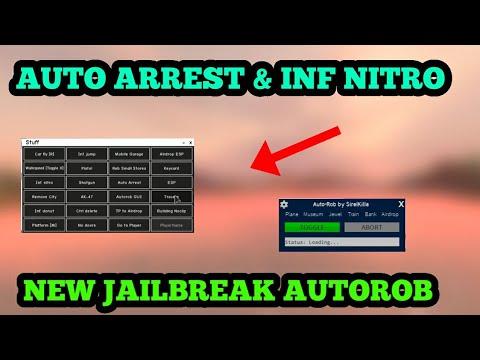 New Jailbreak Hack 2020✔️AUTOROB - AUTOARREST - INF NITRO✔️Roblox Script Gui