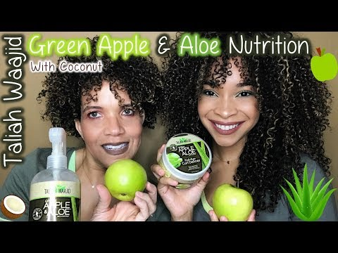 Taliah Waajid | Green Apple & Aloe Nutrition Line | Review/Tutorial